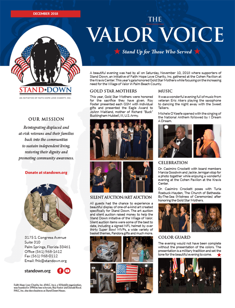 Valor Voice Newsletter December 2018 Issue