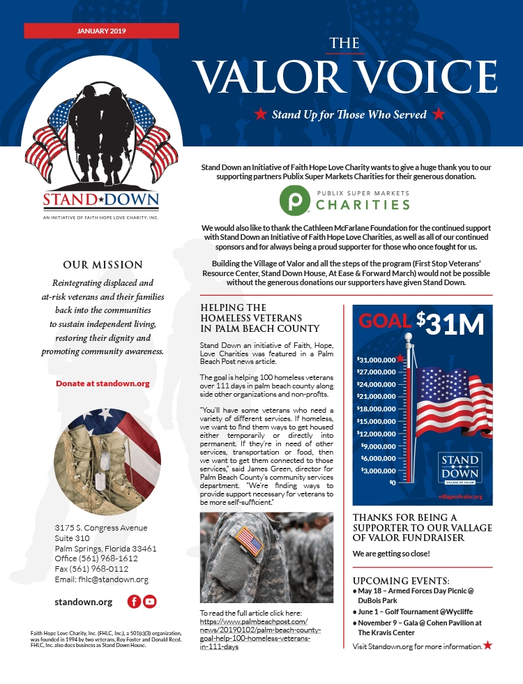 Valor Voice Newsletter January 2019 Issue