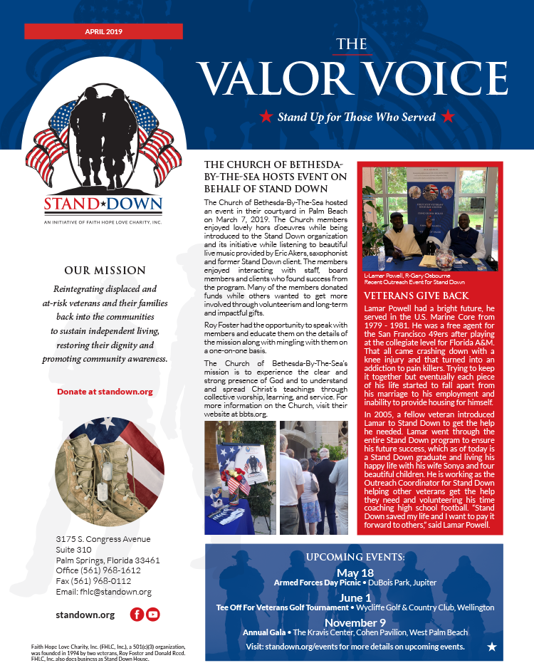 Valor Voice Newsletter April 2019 Issue