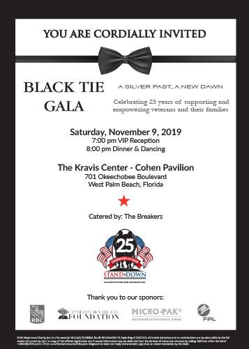 Black Tie Gala 2019 Invitation
