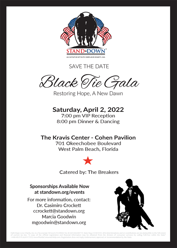 Save the Date Black Tie Gala 2022